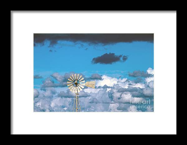 Alternative Framed Print featuring the photograph Water Windmill by Stelios Kleanthous