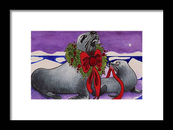 Christmas Framed Print featuring the painting Wear Your Best by Joy Bradley