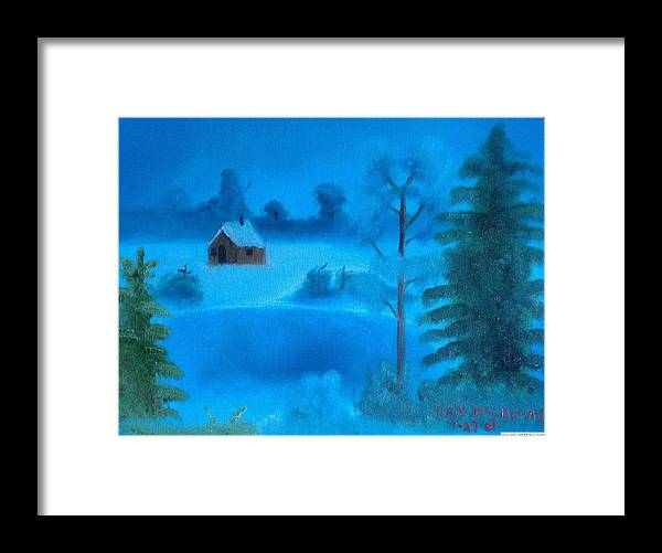 Framed Print featuring the painting Winter Homestead by Dan MacDonald