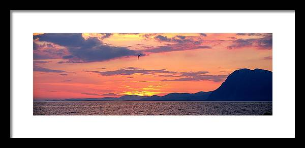 Greece Framed Print featuring the photograph 0016233 - Patras Sunset by Costas Aggelakis