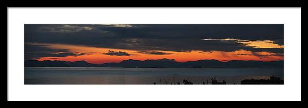 Greece Framed Print featuring the photograph 0079423 - Patras by Costas Aggelakis