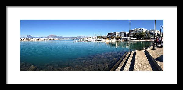 Greece Framed Print featuring the photograph 0087030 - Patras by Costas Aggelakis