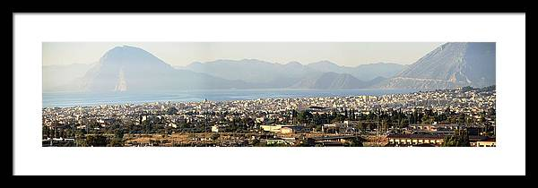 Greece Framed Print featuring the photograph 0087236 - Patras by Costas Aggelakis