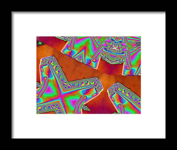 Red Framed Print featuring the digital art 01-11-2014 by John Holfinger