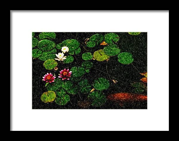 Asia Framed Print featuring the digital art 0148-lily -  Pastel Pencil Sl by David Lange