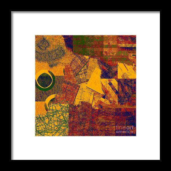 Abstract Framed Print featuring the digital art 0470 Abstract Thought by Chowdary V Arikatla