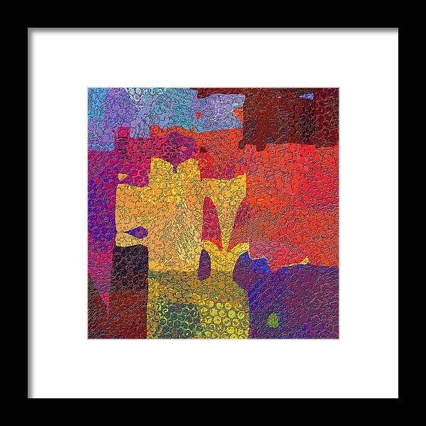 Abstract Framed Print featuring the digital art 0787 Abstract Thought by Chowdary V Arikatla