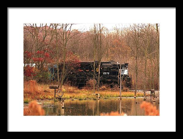 Train Framed Print featuring the photograph 080706-57 by Mike Davis