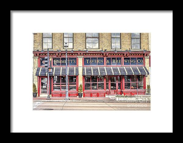 Emmett Framed Print featuring the photograph 0875 Emmett's Tavern And Brewing Company by Steve Sturgill