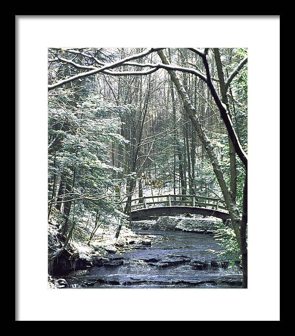 Snow Framed Print featuring the photograph 092508-1 by Mike Davis