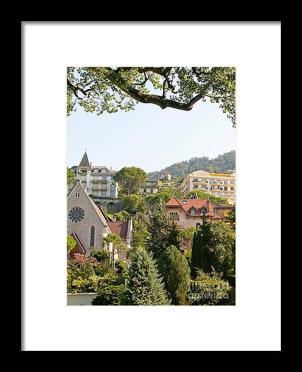 Lake Framed Print featuring the photograph Montreux by Evgeny Pisarev