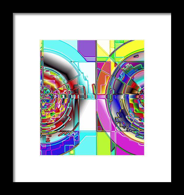 Yellow Framed Print featuring the digital art 1-14-2014 by John Holfinger