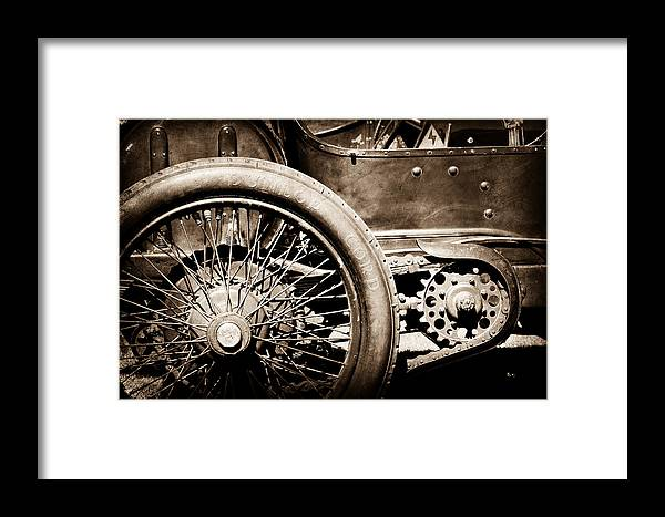 1913 Isotta Fraschini Tipo Im Wheel Framed Print featuring the photograph 1913 Isotta Fraschini Tipo Im Wheel by Jill Reger