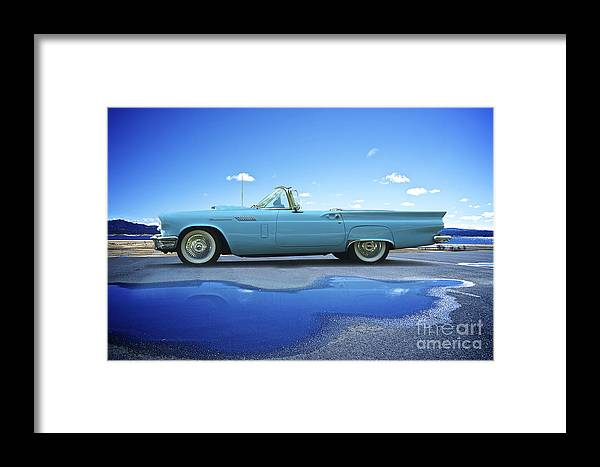 Automobile Framed Print featuring the photograph 1957 Ford Thunderbird Convertible by Dave Koontz