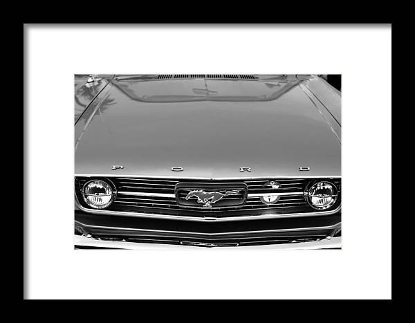 1966 Ford Mustang Front End Framed Print featuring the photograph 1966 Ford Mustang Front End by Jill Reger