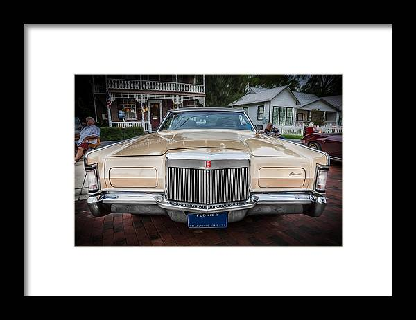 1971 Lincoln Framed Print featuring the photograph 1971 Lincoln Continental Mark IIi Painted by Rich Franco