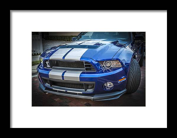 2013 Ford Mustang Framed Print featuring the photograph 2013 Ford Mustang Shelby Gt 500 by Rich Franco