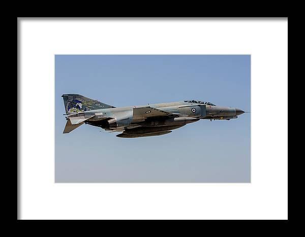 Greece Framed Print featuring the photograph A Hellenic Air Force F-4e Phantom by Timm Ziegenthaler