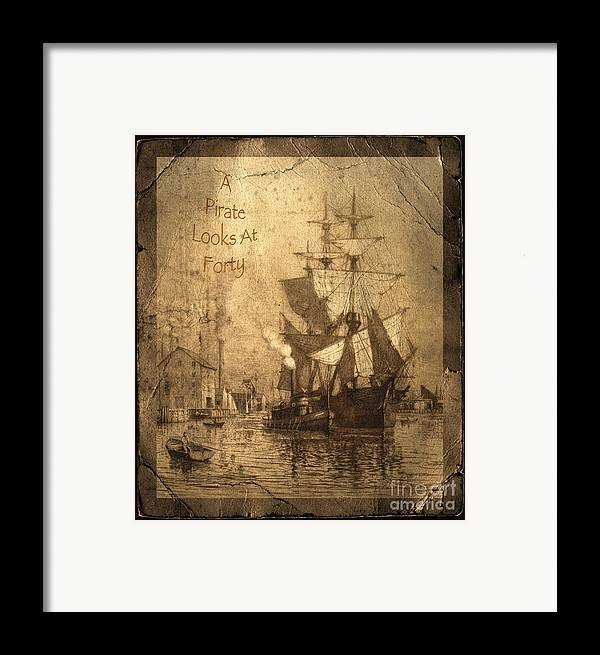 A Pirate Looks At Forty Framed Print featuring the photograph A Pirate Looks At Forty by John Stephens