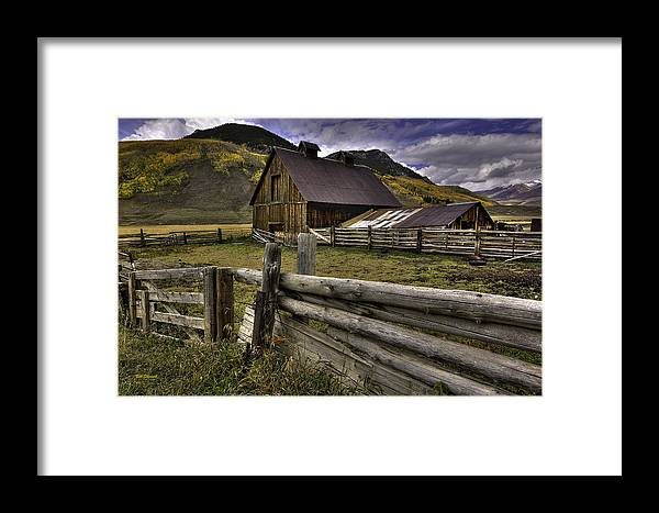 Landscape Framed Print featuring the photograph A Simpler Life by Bill Sherrell