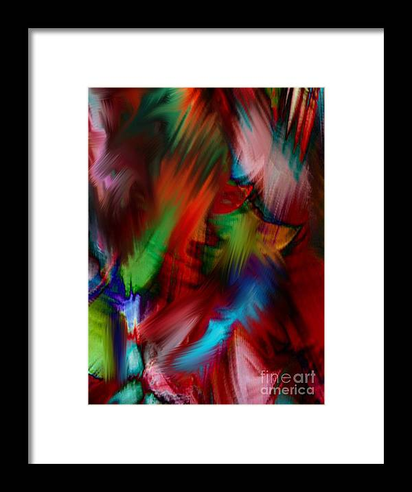 Digital Art Abstract Framed Print featuring the digital art Absolute Abstract by Gayle Price Thomas
