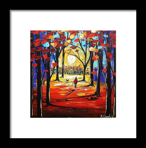 Landscape Framed Print featuring the painting Abstract Landscape by Jolina Anthony