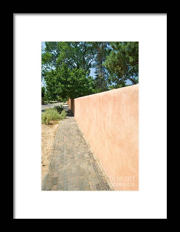 New Framed Print featuring the photograph Adobe Wall by Jim Pruitt