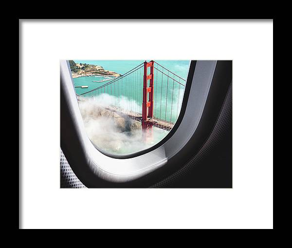 Scenics Framed Print featuring the photograph Aerial View Of San Francisco Golden by Franckreporter