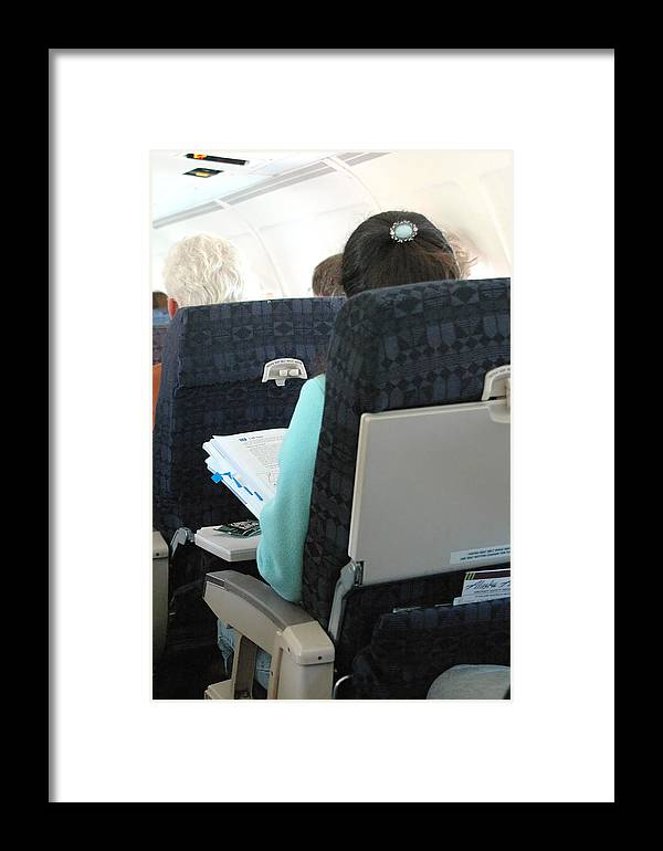 Airline Framed Print featuring the photograph Airline Travel. by Oscar Williams