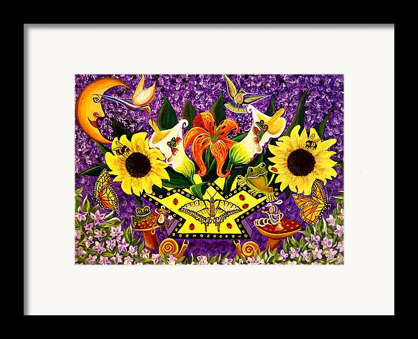 Folk Art Framed Print featuring the painting All Gods Creatures by Adele Moscaritolo