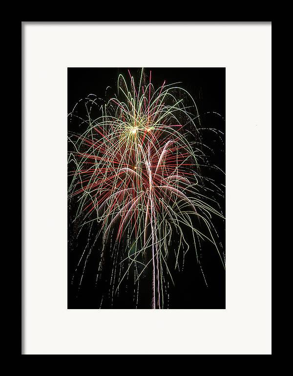 Fireworks Lights Up The Darkness Framed Print featuring the photograph Amazing Fireworks by Garry Gay