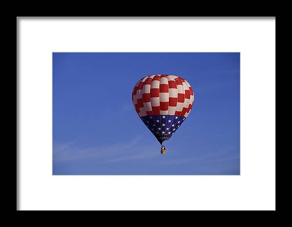 Balloon Framed Print featuring the photograph America by Christian Heeb