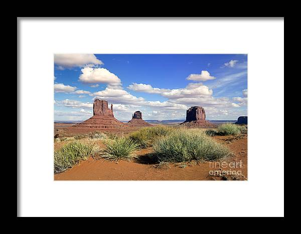 Usa Framed Print featuring the photograph American Landscape - Monument Valley by King Wu