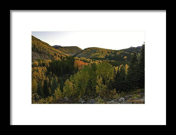 Landscape Framed Print featuring the photograph An Avalanche Of Color by Bill Sherrell