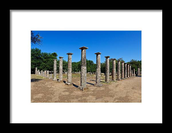 Ancient Framed Print featuring the photograph Ancient Olympia by Constantinos Iliopoulos