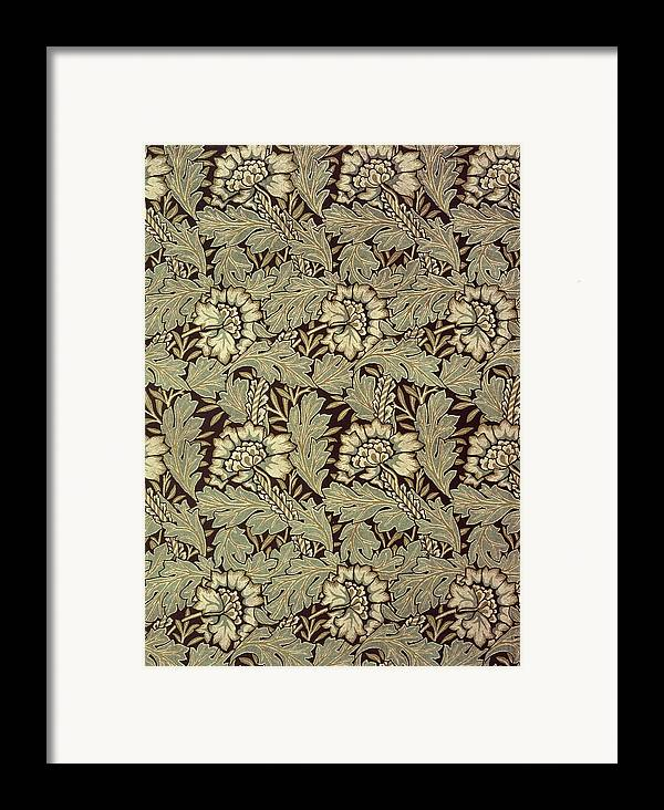 Anemones Framed Print featuring the tapestry - textile Anemone Design by William Morris