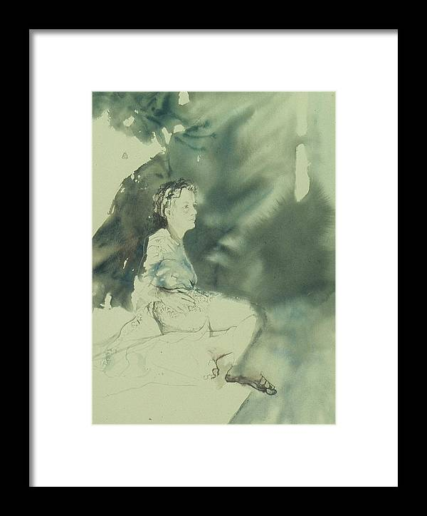 Light Framed Print featuring the painting Annunciation by Chae Min Shim