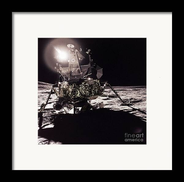 Transport Framed Print featuring the photograph Apollo 17 Moon Landing by Science Source