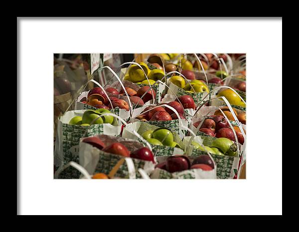Fruit Framed Print featuring the photograph Apples by Kevin Cable