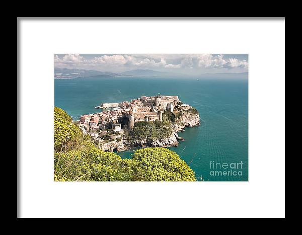 Aragonese Framed Print featuring the photograph Aragonese Castle by Gabriela Insuratelu