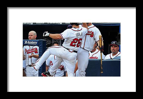 Atlanta Framed Print featuring the photograph Arizona Diamondbacks V Atlanta Braves 1 by Scott Cunningham