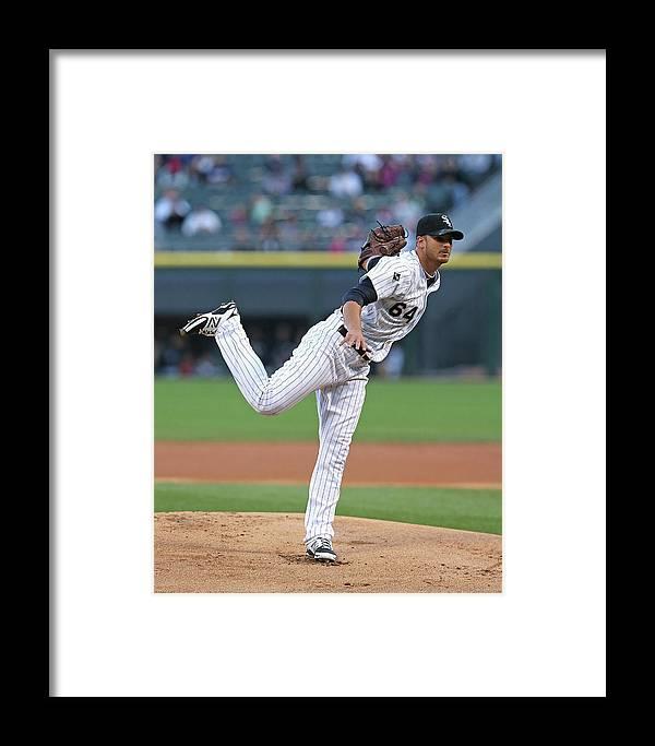 American League Baseball Framed Print featuring the photograph Arizona Diamondbacks V Chicago White Sox 1 by Jonathan Daniel