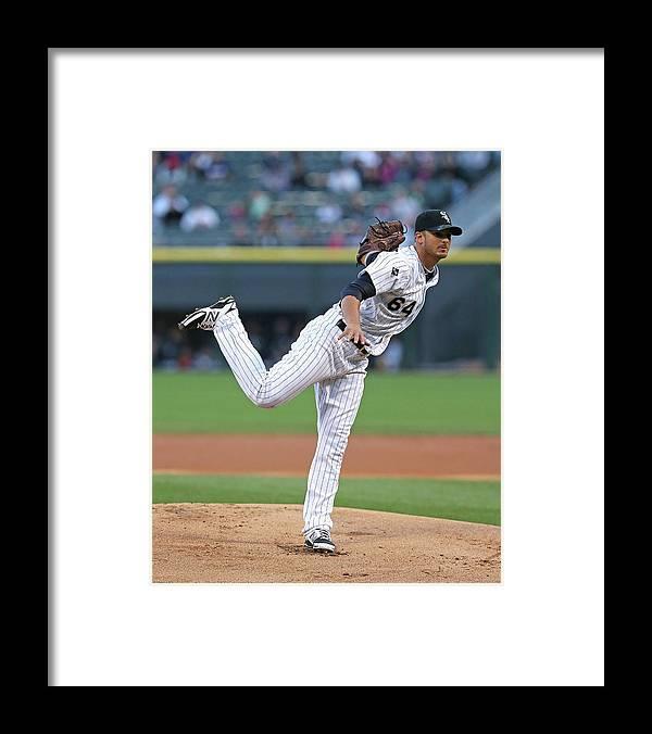American League Baseball Framed Print featuring the photograph Arizona Diamondbacks V Chicago White Sox by Jonathan Daniel