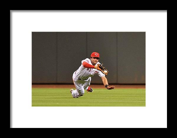 Great American Ball Park Framed Print featuring the photograph Arizona Diamondbacks V Cincinnati Reds by Jamie Sabau