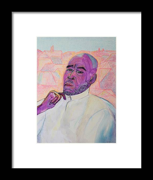 Portrait Painting Framed Print featuring the painting Artist Spiritualist Teacher And True Friend by Asha Carolyn Young