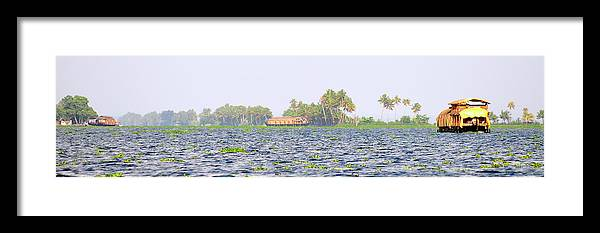 Alappuzha Framed Print featuring the photograph Asia, India, Kerala (backwaters by Steve Roxbury