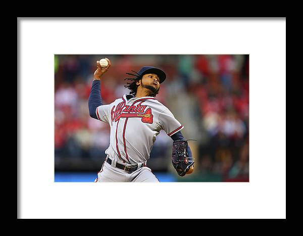 St. Louis Framed Print featuring the photograph Atlanta Braves V St. Louis Cardinals 1 by Dilip Vishwanat