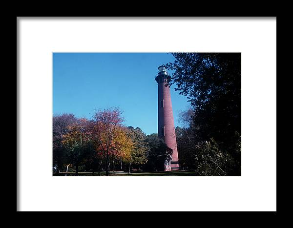 Lighthouse Framed Print featuring the photograph Autumn At Currituck Beach Lighthouse by Darlene Neisess