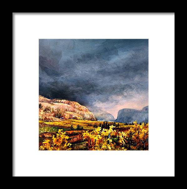 Framed Print featuring the painting Autumn Wine by Bonny Roberts