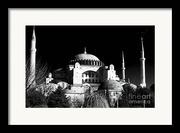 Sultanhmet Framed Print featuring the photograph Aya Sofya by John Rizzuto